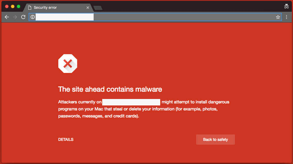 Chrome blacklisted website ahead warning