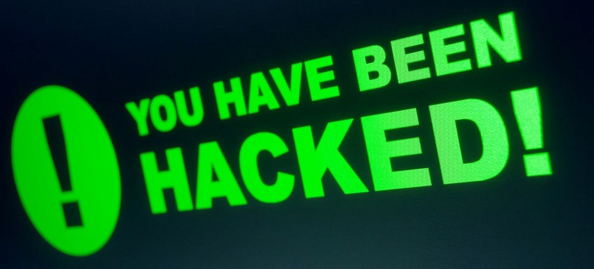 You have been hacked graphic