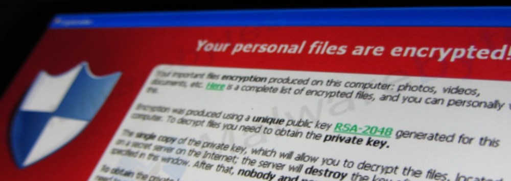 A Ransomware attack notice from the hackers