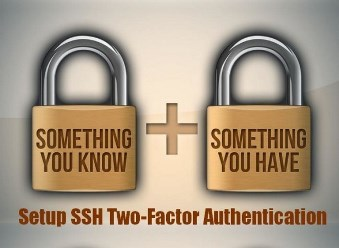 Two factor authentication set up graphic